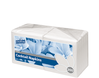 2ply Cocktail Napkins | Quarter Fold | White (2000)