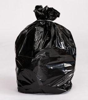 60ltr Black Recycled Rubbish Bags 660x900mm 20mu - 50pk