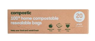 Compostic Resealable Bags 150 x 90mm pkt 20