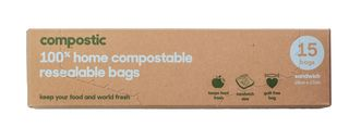 Compostic Resealable Bags 180 x 170mm pkt 15