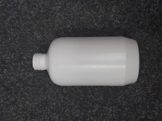 500ml White Boston Bottle 28/410