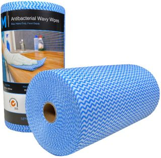 Antibacterial HD Wavy Wipes - Blue 300x500mm, 90 sheets