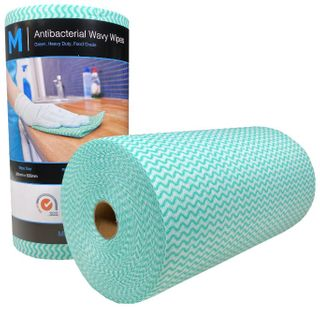 Antibacterial HD Wavy Wipes - Green 300x500mm, 90 sheets