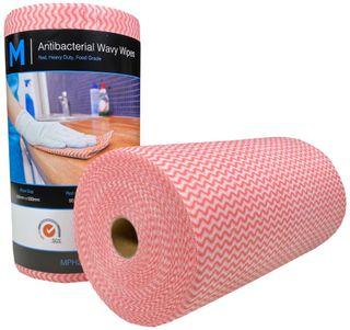 Antibacterial HD Wavy Wipes - Yellow 300x500mm, 90 sheets