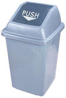 100 litre Push/Swing/Tilt Lid Rubbish Bin - Grey