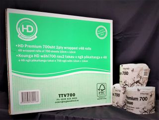 HD Premium 700sht 2ply wrapped x48 rolls