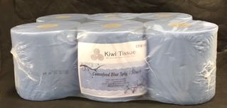 Centrefeed Towels Blue
