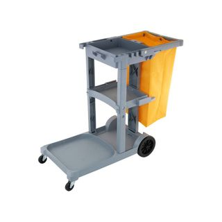 Premium Janitor Cart Trolley with bag