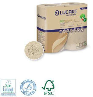EcoNatural 4 Toilet Tissue rolls, 14x4packs 400sheet