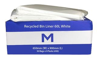 White Bags 60L 650 x 900mm - Pk 50