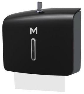 M Short Slimfold Towel Dispenser Black 300sht