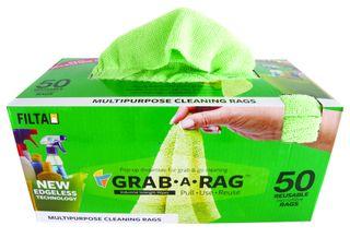 Grab-a-Rag Microfibre 50 per Box - Green