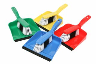 EDCO DUSTPAN & BRUSH SET BLUE
