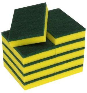 M Premium Scouring Sponge Yellow/Green - Pack 10