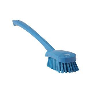 Vikan Churn Brush 415mm, Long Handle, Med Bristle
