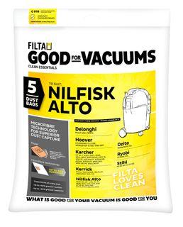 20030  Kerrick/Nilfisk Alto M/fibre Vac Bags 5pkt