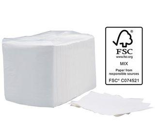 1ply Luncheon Napkins 1/4fold - White 300mmx300mm (Ctn 3000)