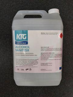 HD Alcohol Hand Gel Sanitizer 5L DG UN1170 C:3 PG:2