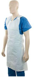 Polyethylene Back Tie Aprons White - 40mu - Ctn 400