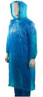 Polyethylene Hooded Ponchos Blue - Ctn 96
