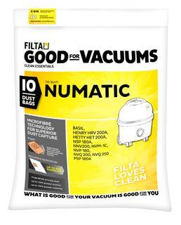 60092  Numatic Henry M/Fibre Vacuum Bags 10/pk