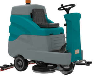 HD Ride-On Floor Scrubber with Dryer - 70cm