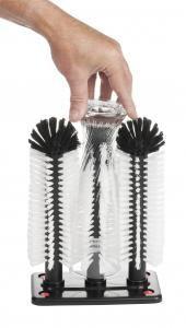 Triple Hedgehog Glass Washing Brush