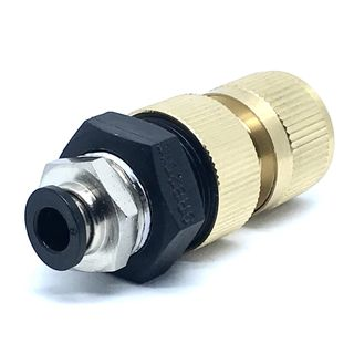 PureWash Brass Female Hose Connector with Push-fit 8mm
