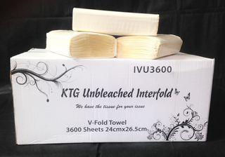 KTG Unbleached Interfold 3600