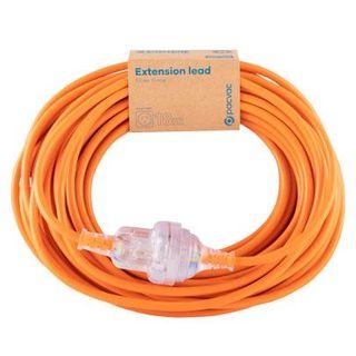Extension Lead Cord - 3 Core 1MM, 18MTR - Orange