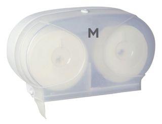 M Wrapped Std Toilet Roll Dispenser White (40mm core)
