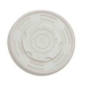 Green Choice CPLA Lids to fit 12/16oz soup bowl - White (500 units)