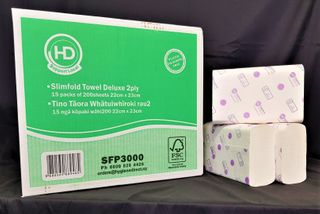 HD Deluxe 2ply Slimfold 200shts x 15 packs