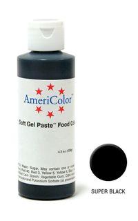 AMERICOLOR GEL PASTE SUPER BLACK 4.5OZ