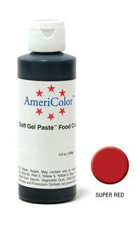 AMERICOLOR GEL PASTE SUPER RED 4.5OZ