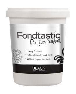 FONDTASTIC VAN FLAV FONDANT 2LB BLACK
