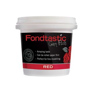 FONDTASTIC RTU GUM PASTE RED 8OZ