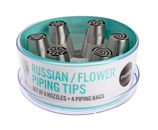 MONDO RUSSIAN/FLOWER PIPING TIP 10PC SET