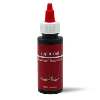 CHEFMASTER LIQUA-GEL SUPER RED 2.3OZ