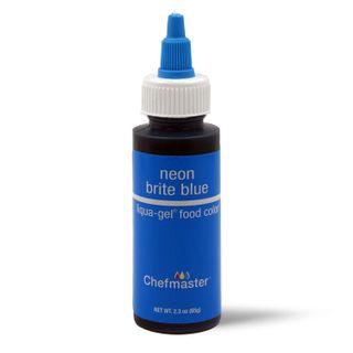 CHEFMASTER LIQUA-GEL NEON BLUE 2.3OZ