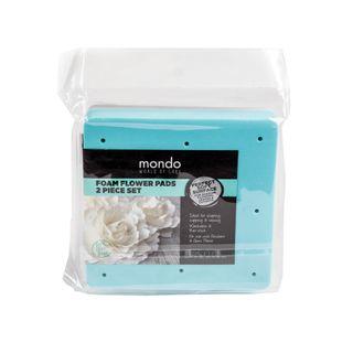 MONDO FLOWER FOAM MAT - WHITE/BLUE SET