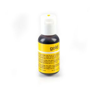 CHEFMASTER LIQUA-GEL GOLD 0.7OZ