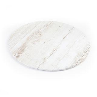 MONDO CAKE BOARD ROUND WOOD GRAIN10IN/25