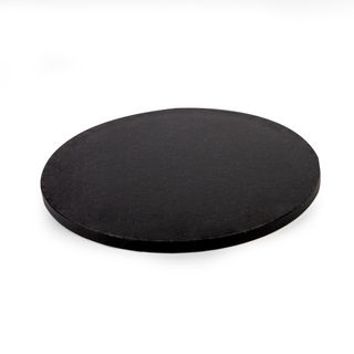 MONDO DRUM CAKE BOARD ROUND BLACK 8IN