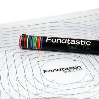 FONDTASTIC FONDANT MAT 2PC SET