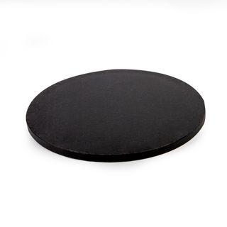 MONDO DRUM CAKE BOARD ROUND BLACK 14IN