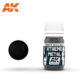 AK Interactive Metallic Xtreme Metal Black Base
