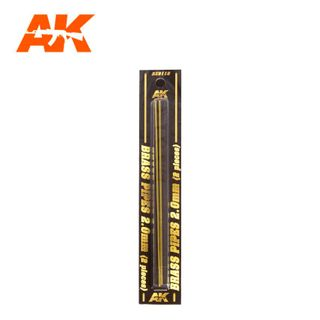 AK Interactive Accessories Brass Pipes 2,0Mm, 2 Units