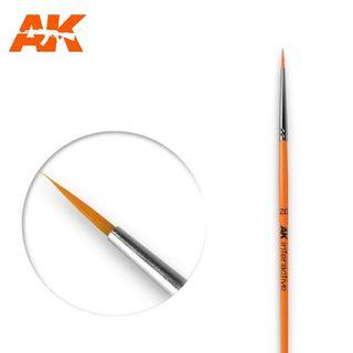 AK Interactive Brush Round Brush 2/0 Synthetic