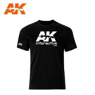 AK Interactive AK Official T-Shirt  Black (White Logo) Size M